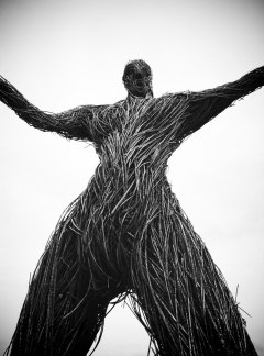 A Wicker Man figure