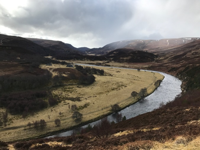 The bend in the River Findhorn close to where the last wolf in Britain is said to have been slain. Copyright: Edward Parnell