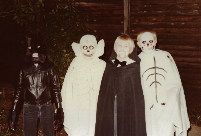 My Halloween party, c. 1981. I'm dressed as Dracula...