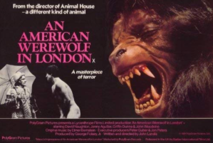 1981 poster for 'An American Werewolf in London'