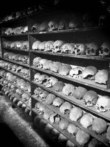 Bone Crypt. Holy Trinity Church, Rothwell, Nothants.