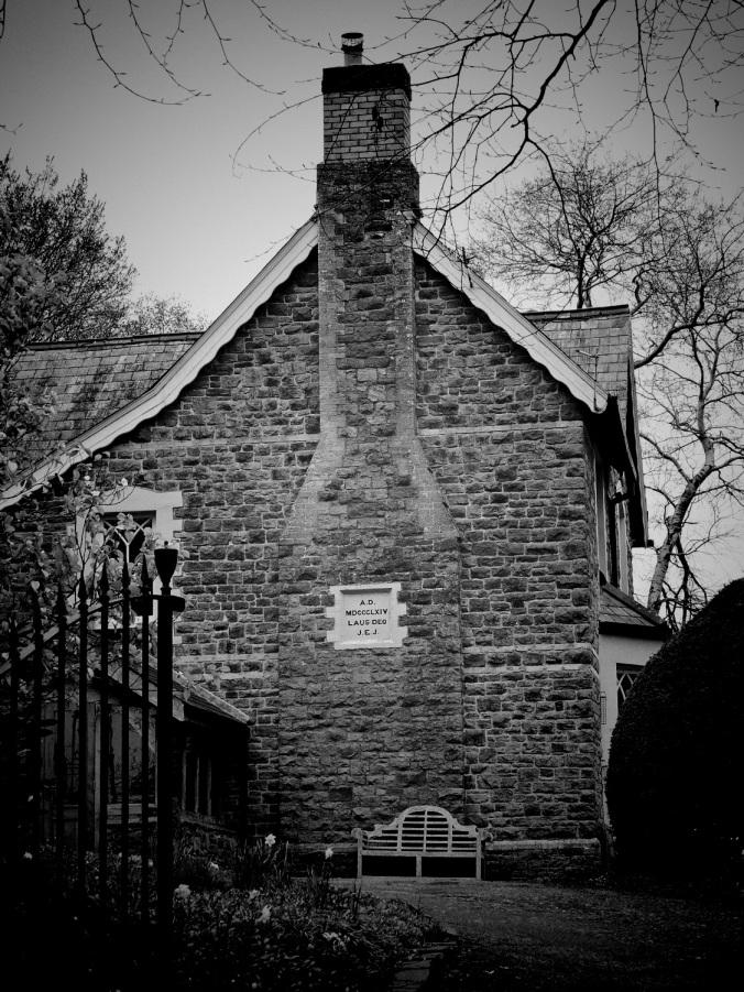 The former Llanddewi Fach Rectory in which Arthur Machen grew up.