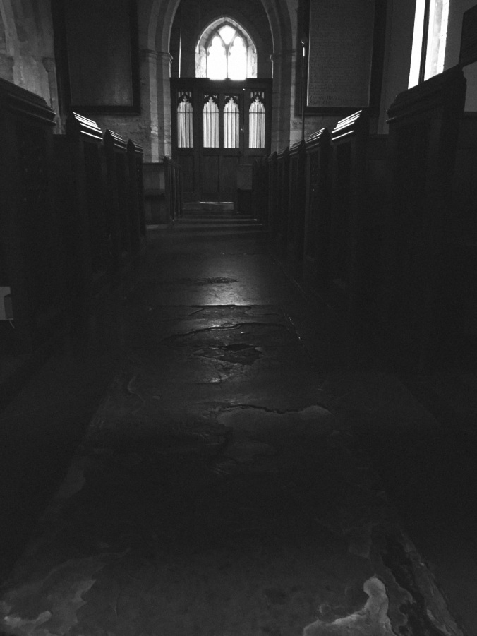 The nave of Chaceley church.